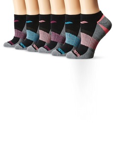 Saucony Women's 6 Pack Performance No Show Athletic Sport Socks  9-11/Shoe Size 5-10 (Pack of 6)