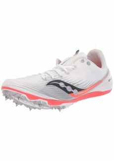 Saucony Women's Ballista MD Track Shoe White/Vizi red  M US