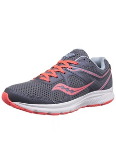 Saucony Women's Cohesion 11 Running Shoe Grey/red  Medium US