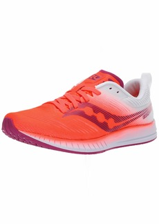 Saucony Women's Fastwitch 9 Road Running Shoe Vizi red/White  M US