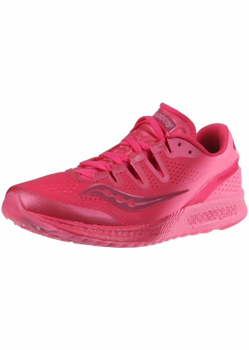 Saucony Women's Freedom ISO Running Shoe Beery/Pink  B(M) US