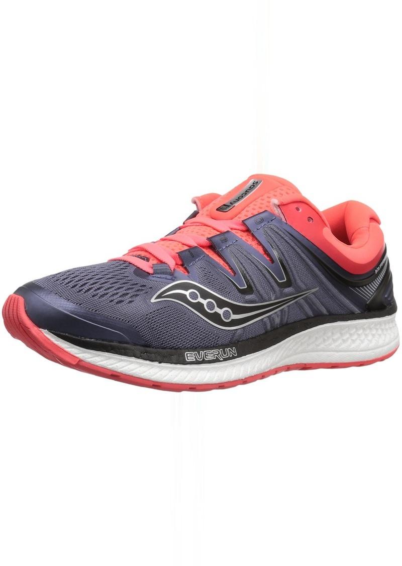 Saucony Women's Hurricane ISO 4 Running Shoe Grey/Black/Vizi RED  Medium US