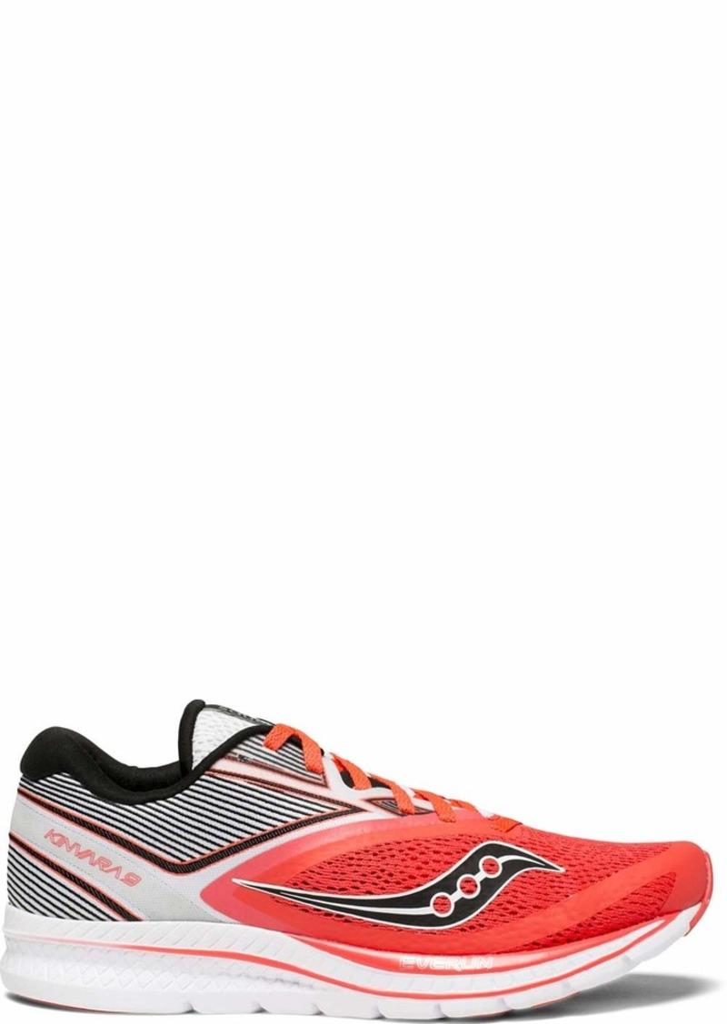 Saucony Women's Kinvara 9 Running Shoe Vizi red/White  Medium US