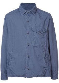 Save Khaki boxy shirt jacket