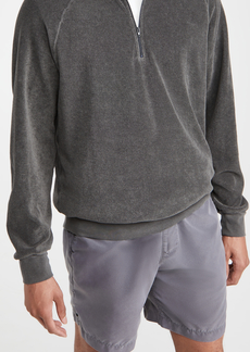 Save Khaki Beach Terry Quarter Zip Sweatshirt