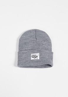 Save Khaki Printed Made In Cuff Beanie Hat
