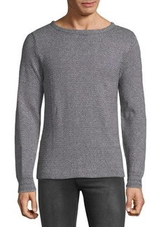 Save Khaki Textured Stripe Sweater