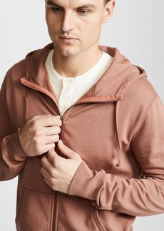 Save Khaki Zip Hooded Sweatshirt