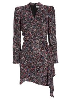 Saylor Bernadette Draped Floral Mini Dress