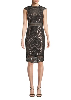 Saylor Heloise Sequin Open-Back Dress