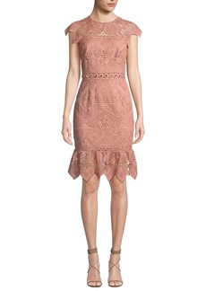 Saylor Joah Scalloped Lace Dress