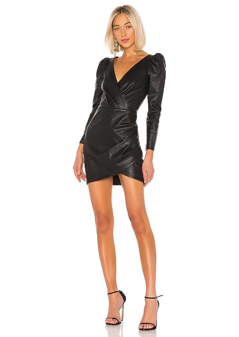 SAYLOR Cyan Leather Dress