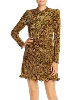 Saylor Tovah Pleated Leopard Print Dress
