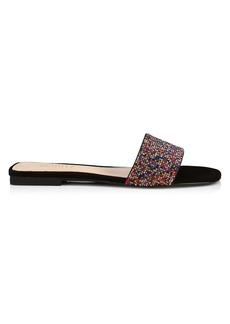 SCHUTZ Angelle Embellished Suede Slides