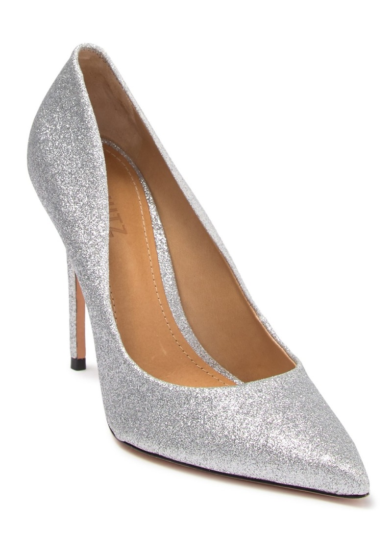 SCHUTZ Caiolea Glitter Pointed Toe Pump