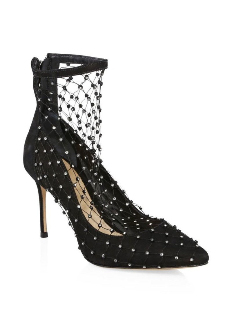 3269f1912 SCHUTZ Chaya Embellished Fishnet Pumps | Shoes