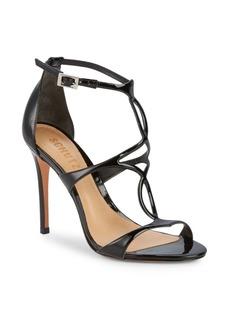 SCHUTZ Classic Patent Leather Ankle-Strap Sandals