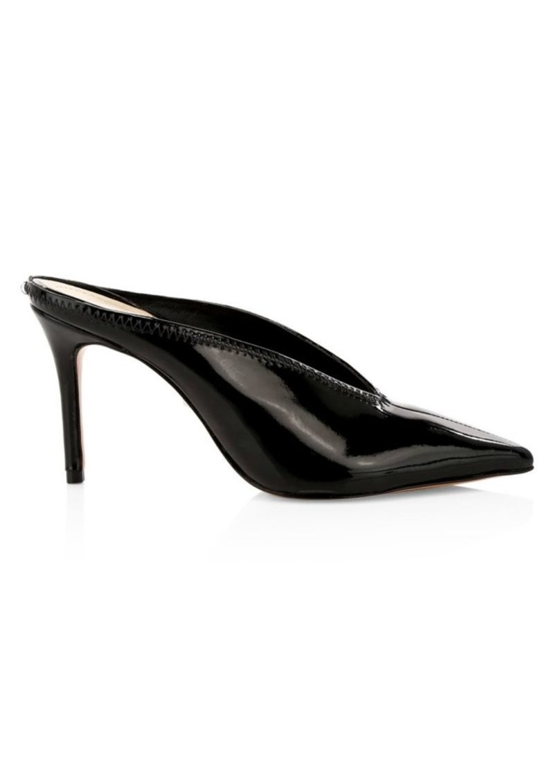 SCHUTZ Duani Point-Toe Patent Leather Mules