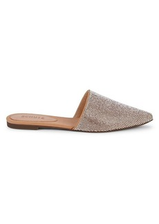 SCHUTZ Embellished Leather Mules