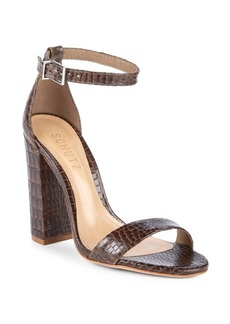 SCHUTZ Enida Leather Ankle Strap Sandals