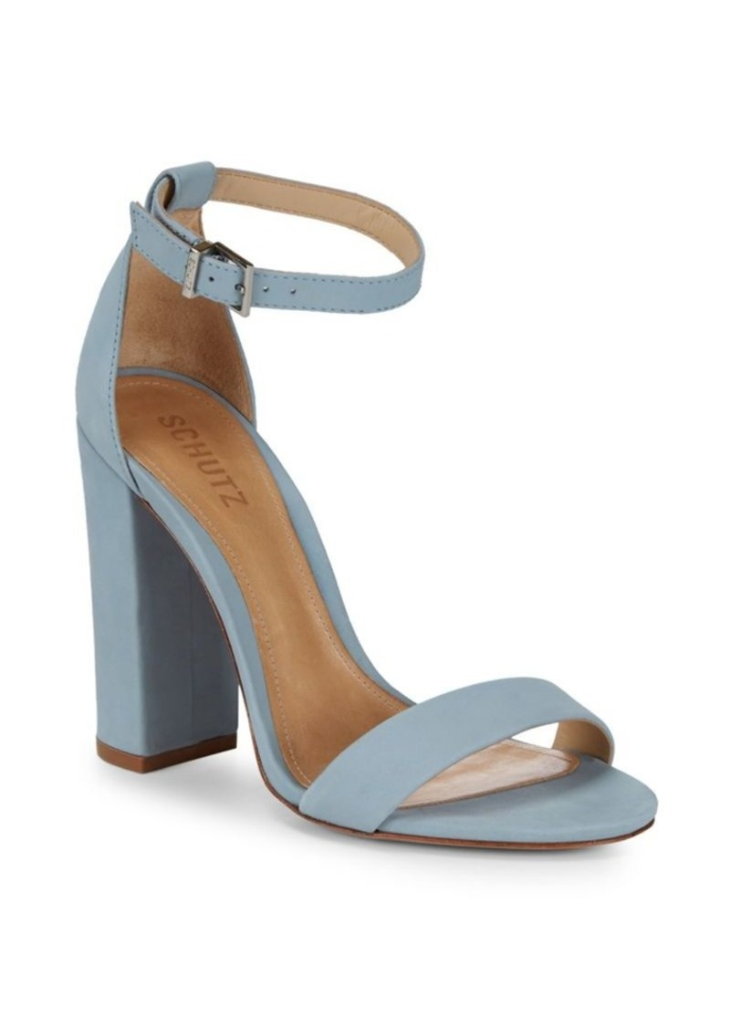 11f2f20a8fe2 SCHUTZ Enida Leather Ankle Strap Sandals