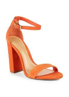 SCHUTZ Enida Suede Ankle-Strap Sandals