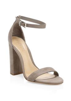 SCHUTZ Enida Suede Block Heel Sandals