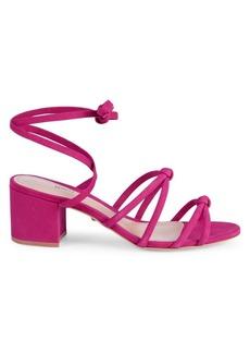 SCHUTZ Francys Suede Wrap-Ankle Block Heel Sandals