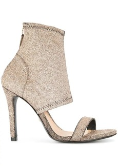 SCHUTZ glitter sock sandals