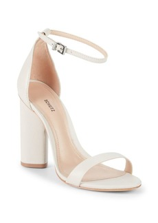 SCHUTZ Jeannine Leather Ankle-Strap Sandals