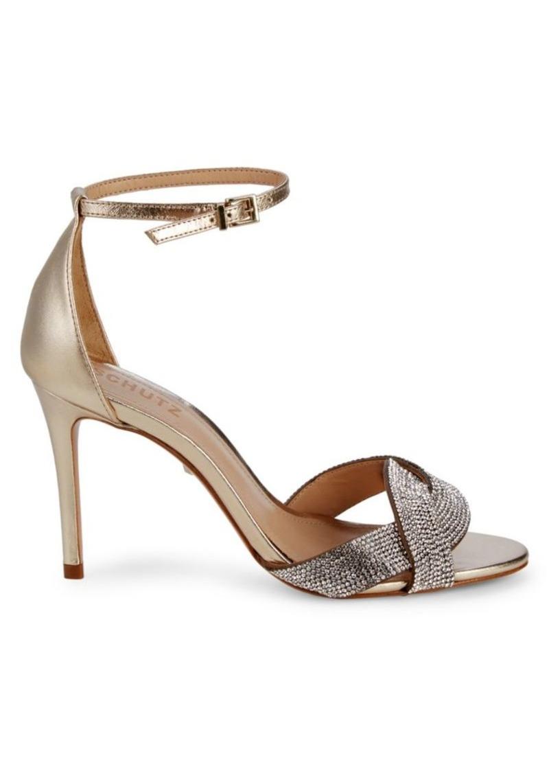 SCHUTZ Jolita Metallic Heeled Sandals