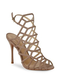 SCHUTZ Juliana Suede Webbed High Heel Sandals