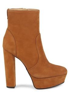 SCHUTZ July Suede Leather Platform Boots