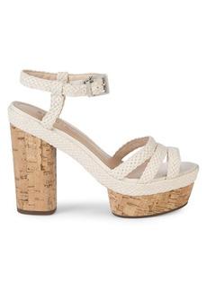 SCHUTZ Kassia Braided Leather Platform Sandals