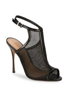 SCHUTZ Kelda Mesh Net Slingback Sandals