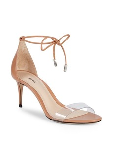 SCHUTZ Lucy Ankle-Tie Clear Band Sandals