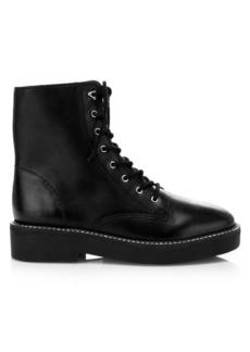 SCHUTZ McKenzie Leather Combat Boots