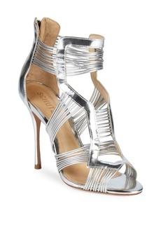 SCHUTZ Metallic Leather Sandals