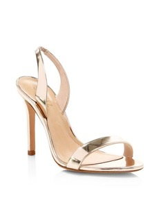 SCHUTZ Metallic Leather Slingback Sandals