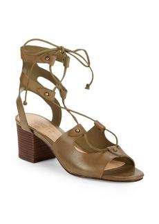 SCHUTZ Monik Leather Lace-Up Sandals