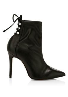 SCHUTZ Nilla Lace-Up Stiletto Boots