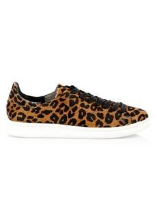SCHUTZ Ofelia Leopard-Print Calf Hair Sneakers