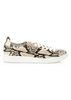 SCHUTZ Ofelia Snake Embossed Leather Sneakers