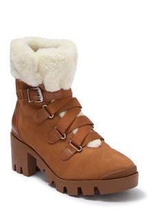 SCHUTZ S-Aretuza Faux Fur Work Boot