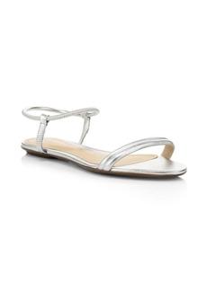 SCHUTZ S-Carinny Metallic Leather Gladiator Sandals
