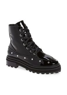 Schutz Abeli Patent Leather Combat Boot