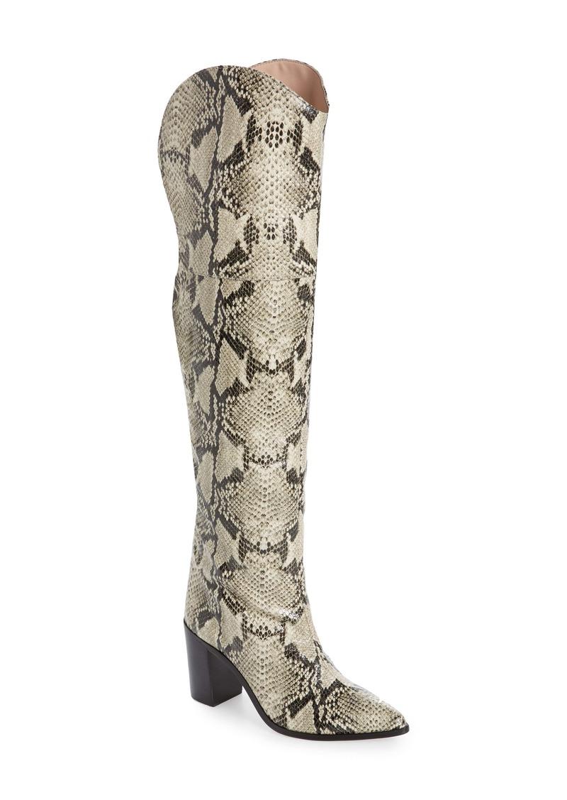 Schutz Anaisha Pointed Toe Over the Knee Boot (Women)