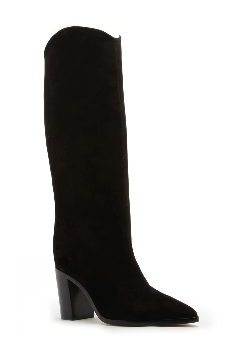 Schutz Analeah Pointed Toe Knee High Boot (Women)