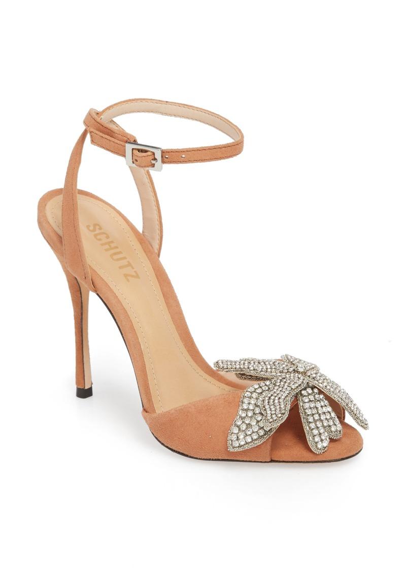 7bdee4e80 SALE! SCHUTZ Schutz Ayanne Embellished Flower Sandal (Women)