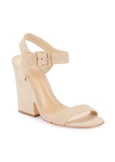 Schutz Baronina Leather Wedge Sandals